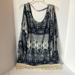 Rue 21 Boho open Sleeve blouse  Large